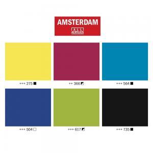 Amsterdam akryylitussit 4mm aloituspaketti 2